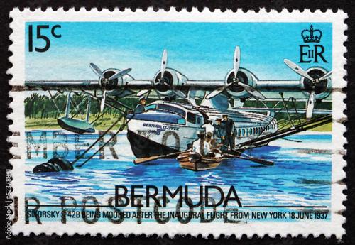 Valokuva  Postage stamp Bermuda 1987 Sikorsky S-42B, 1937