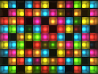 FototapetaWall of disco lights