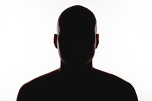 Silhouette Of The Man On A Whi...