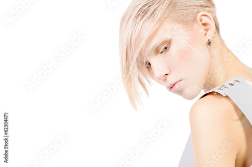 white make-up Poster