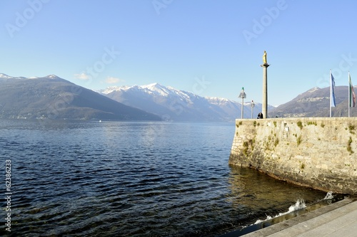 Fotografie, Obraz  View of Lago Maggiore from Luino