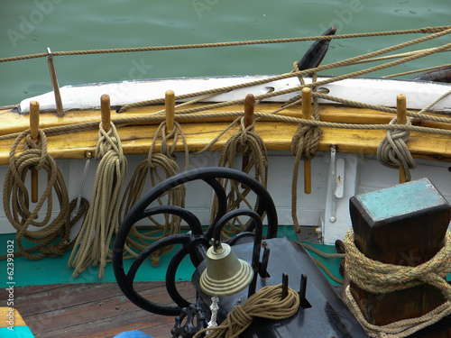 Fotografiet  cordage bateau