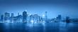 Light Blue Panaroma of New York City