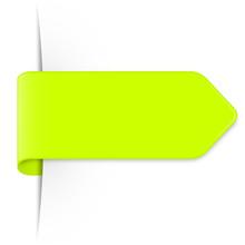 Langer Limette Grüner Sticker Pfeil Mit Textfreiraum