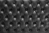 Fototapeta Bedroom - Fondo de textura de cuero acolchado en negro tipo chesterfield