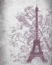 Retro Poster Of Eiffel Tower F...