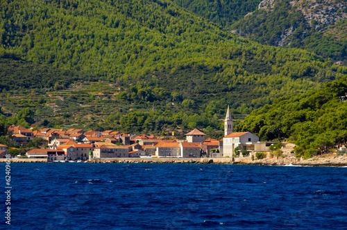 City on the water Jelsa town on Hvar island, Croatia