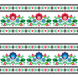 Seamless Polish folk pattern with flowers