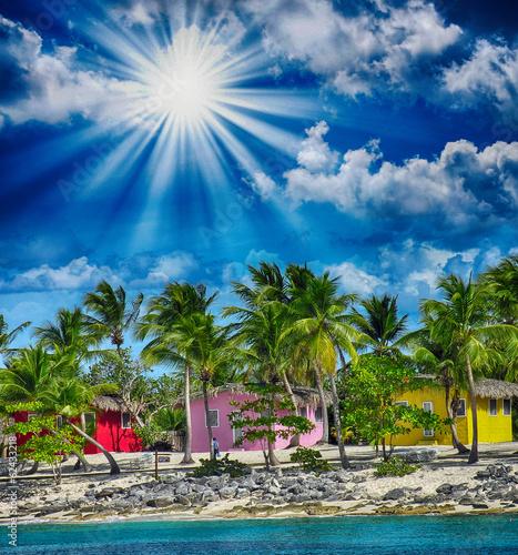 Resort on a pristine island
