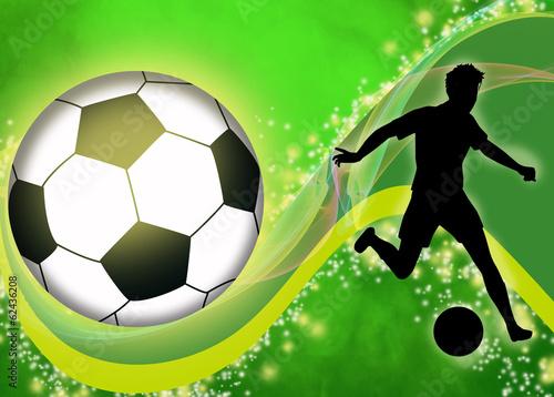 Fototapeta premium Tło piłki nożnej lub piłki nożnej