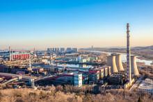 Chimney Of Heavy Industry Factory In Beijing