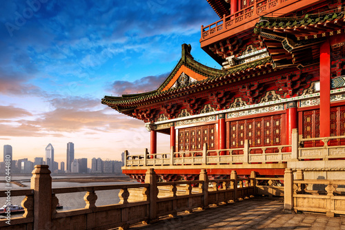 Tuinposter Monument Chinese ancient architecture