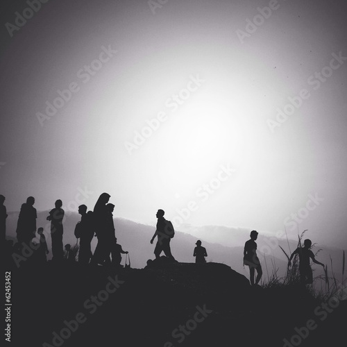 Foto op Canvas Militair people in silhouette