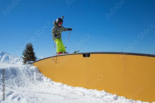 Fotografie, Obraz  Enfant au snowpark