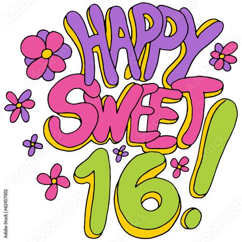 Happy Sweet Sixteen Canvas-taulu