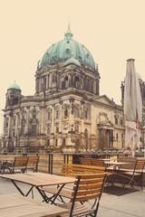 Fototapeta na wymiar Berlin Cathedral Church. German Berliner Dom