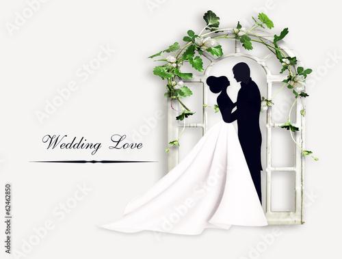 Fotografie, Obraz  Свадьба. Жених и невеста
