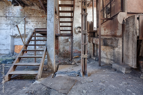 Photo Stands Old abandoned buildings Old, abandoned and forgotten brick factory