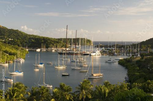 Foto op Plexiglas Caraïben landscape view English Harbor Harbour Antigua island Caribbean S