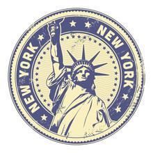 Grungy New York Stamp (texture...