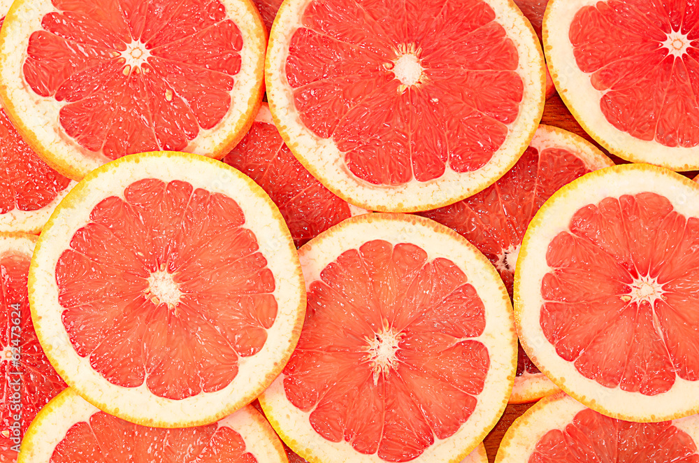 Fotografie, Obraz Fresh grapefruit as a background