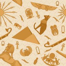 Seamless Egypt Pattern