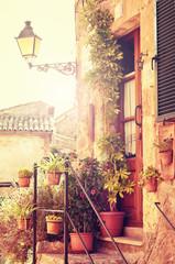 Fototapeta Architektura Traditional courtyard in Valldemossa village