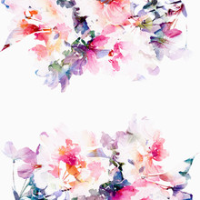 Floral Watercolor Background. ...