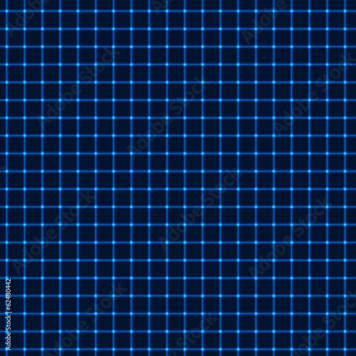 Fotografía  Neon blue grid
