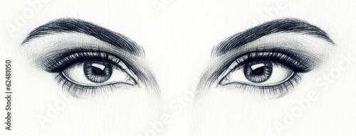 Poster Portrait Aquarelle woman eyes