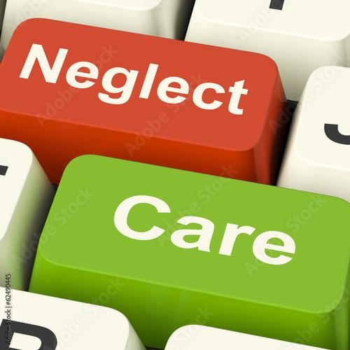 Fotografia Neglect Care Keys Shows Neglecting Or Caring