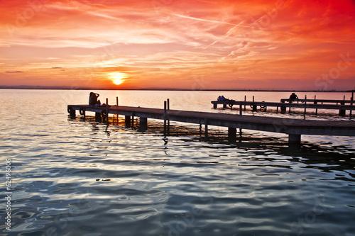 Fotografering  los embarcaderos del lago