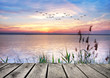 Leinwandbild Motiv el lago de las nubes de colores