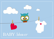 Baby Shower Invitation Card Wi...