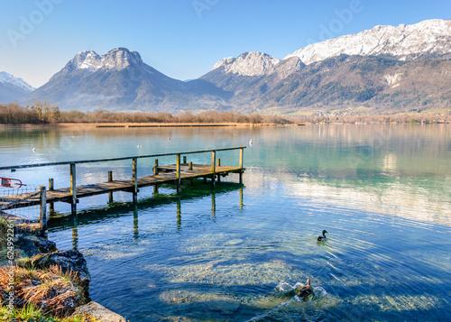 Obraz na płótnie Bout du lac d'Annecy
