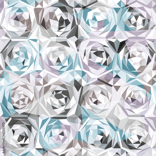 silver roses seamless pattern