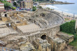 Ruins of the ancient amphitheater in Tarragona, Spain