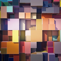 Cubes abstract background