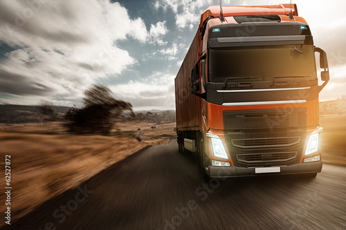 Truck on Country Road