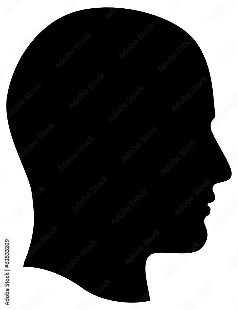 Fototapeta Man Head Profile