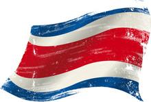 Costa Rican Grunge Flag