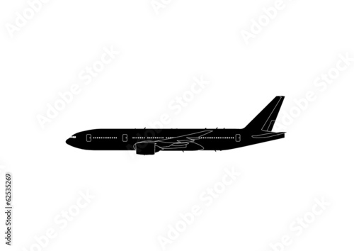 Fotografia  777-200 ER Boeing Flugzeug Silhouette