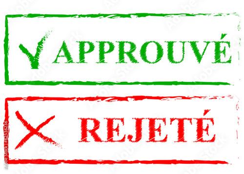 Accepter refuser Fototapet