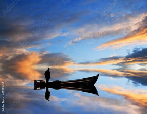 Fotografering  pescando nubes de colores