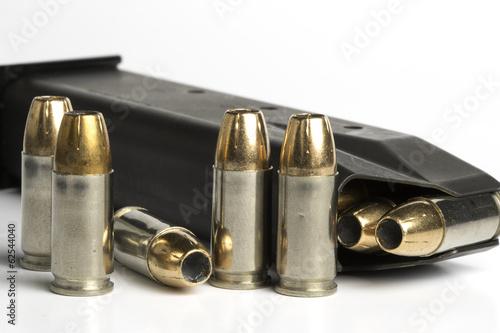 9 mm ammo Canvas Print