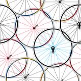 wzór z kołami rowerowymi - 62547488
