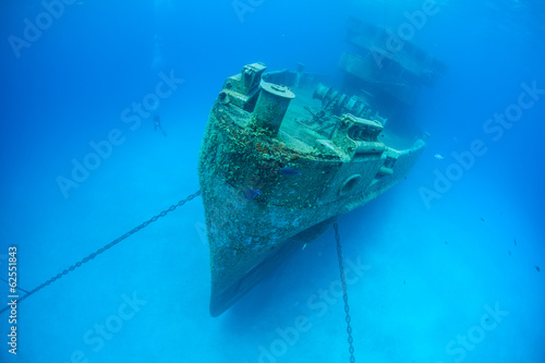 Foto op Canvas Schipbreuk Caribbean Shipwreck