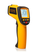 Infrared Laser Thermometer Isolated On White