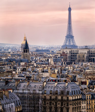 View Of Paris And Of The Eiffe...