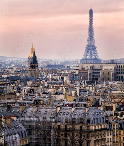 View of Paris and of the Eiffel Tower from Above #62561030